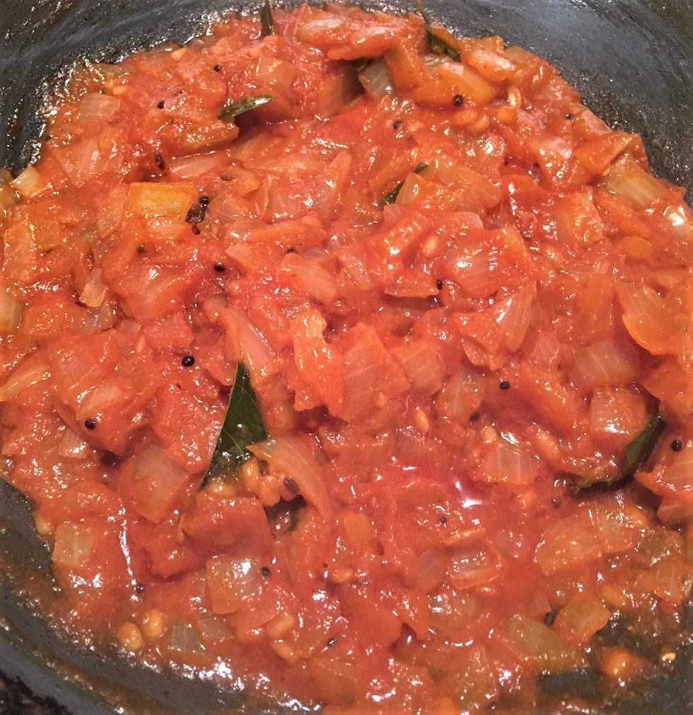 Cook until tomatoes is soft and pulpy