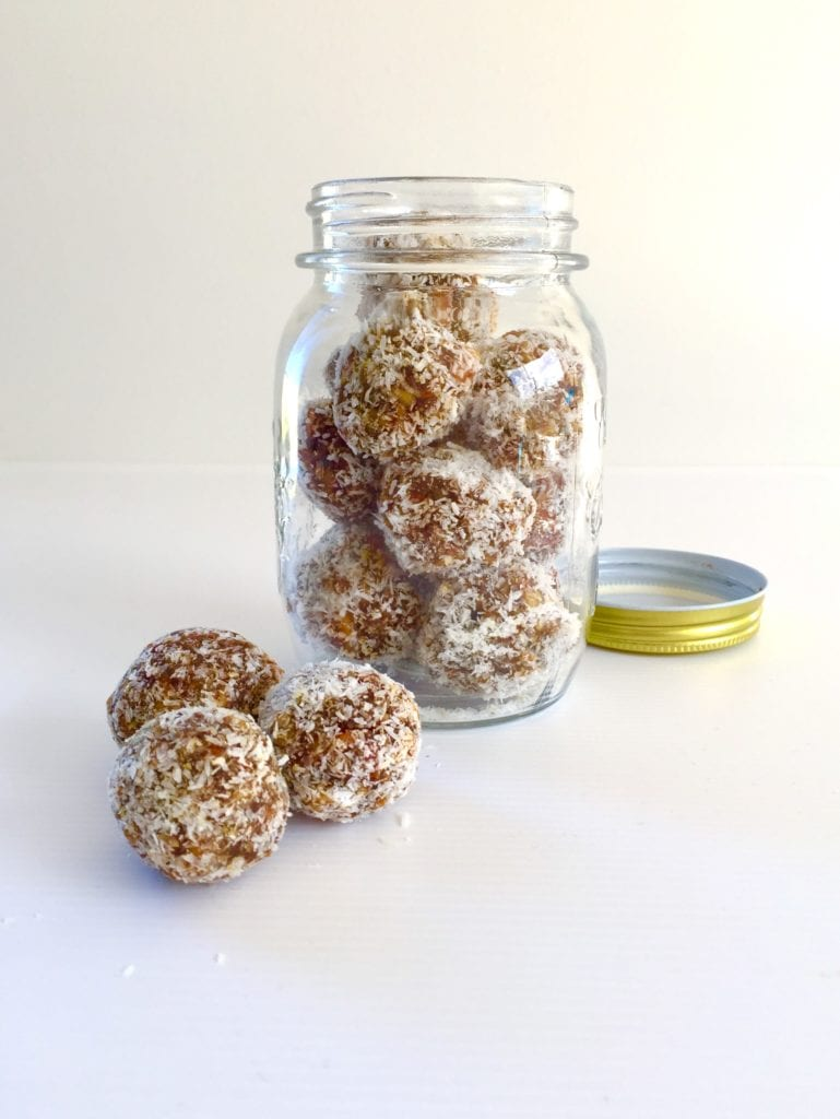Dry fruits laddoo rolled in desiccated coconut