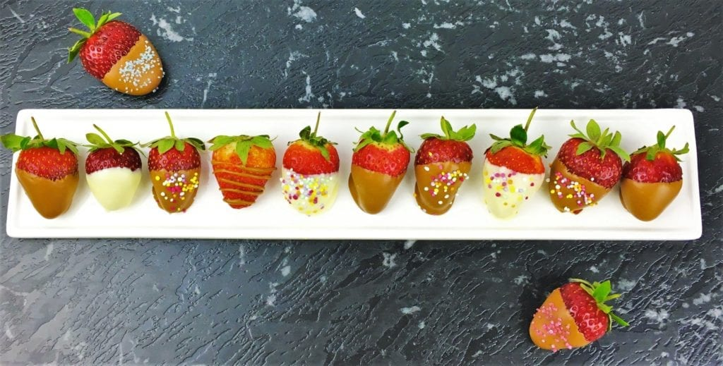 choc strawberries