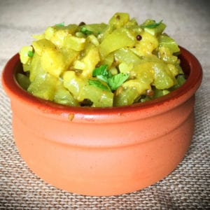 Bottle gourd curry (Lau ghonto)