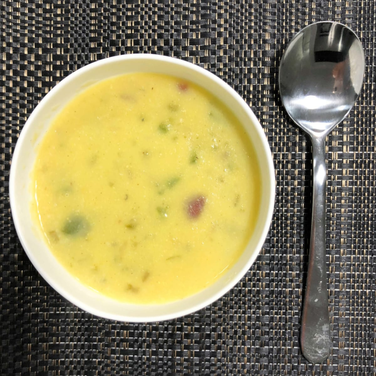 Roasted Capsicum and Corn Soup