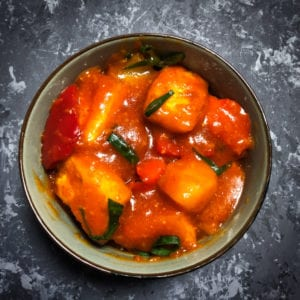 Sweet and Sour Paneer