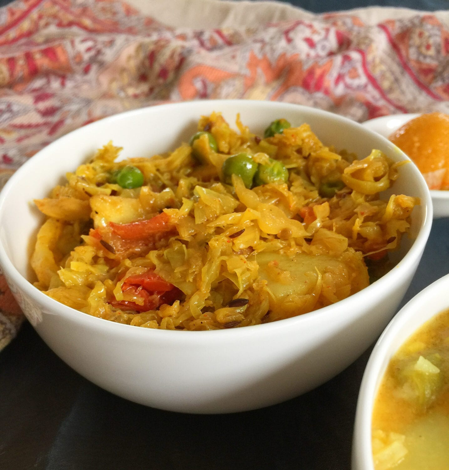 Bengali style Cabbage Dry Curry