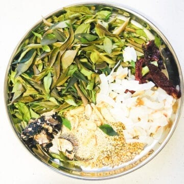 Curry leaves chutney pudi