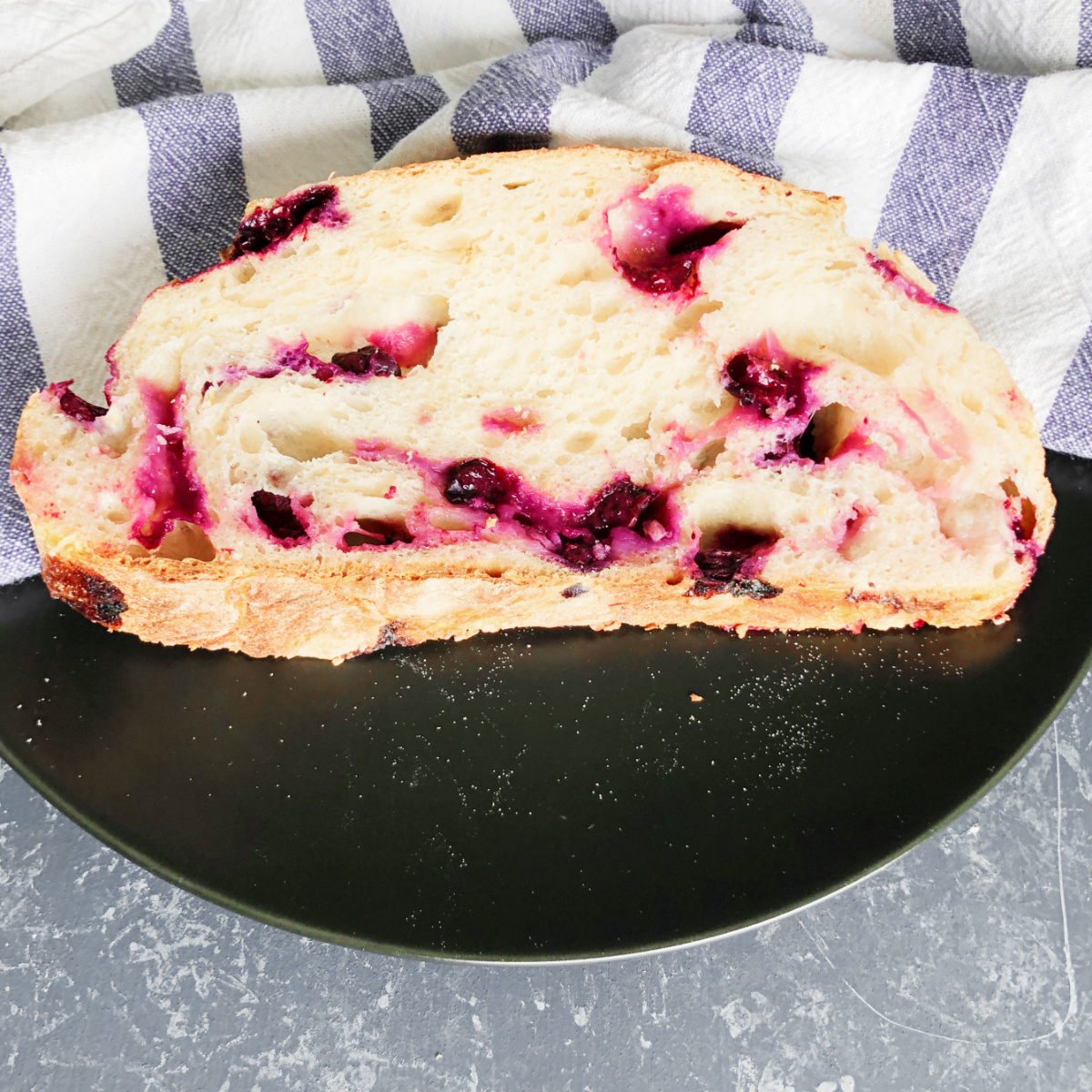 Sourdough Blueberry and Lemon Bread