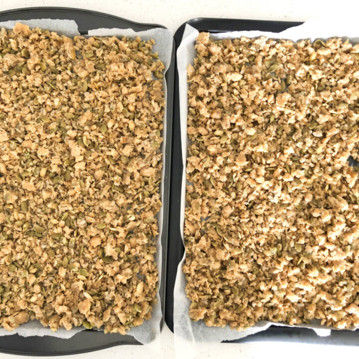 Long-fermented sourdough granola