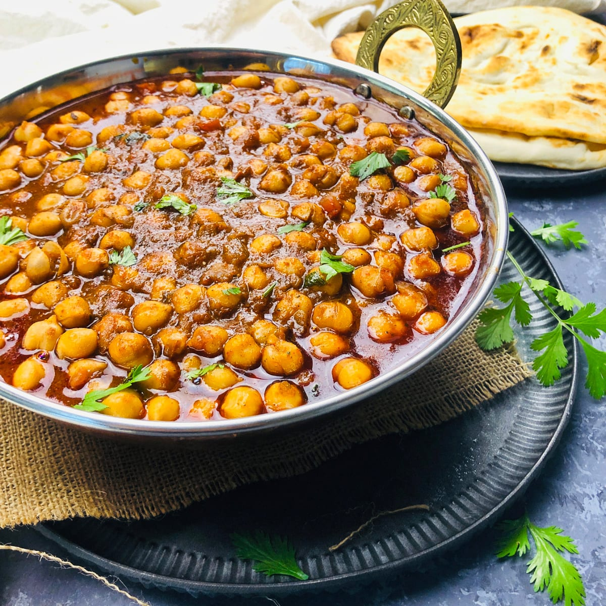 Chole Masala | Chana Masala (Vegan Chickpea Curry)