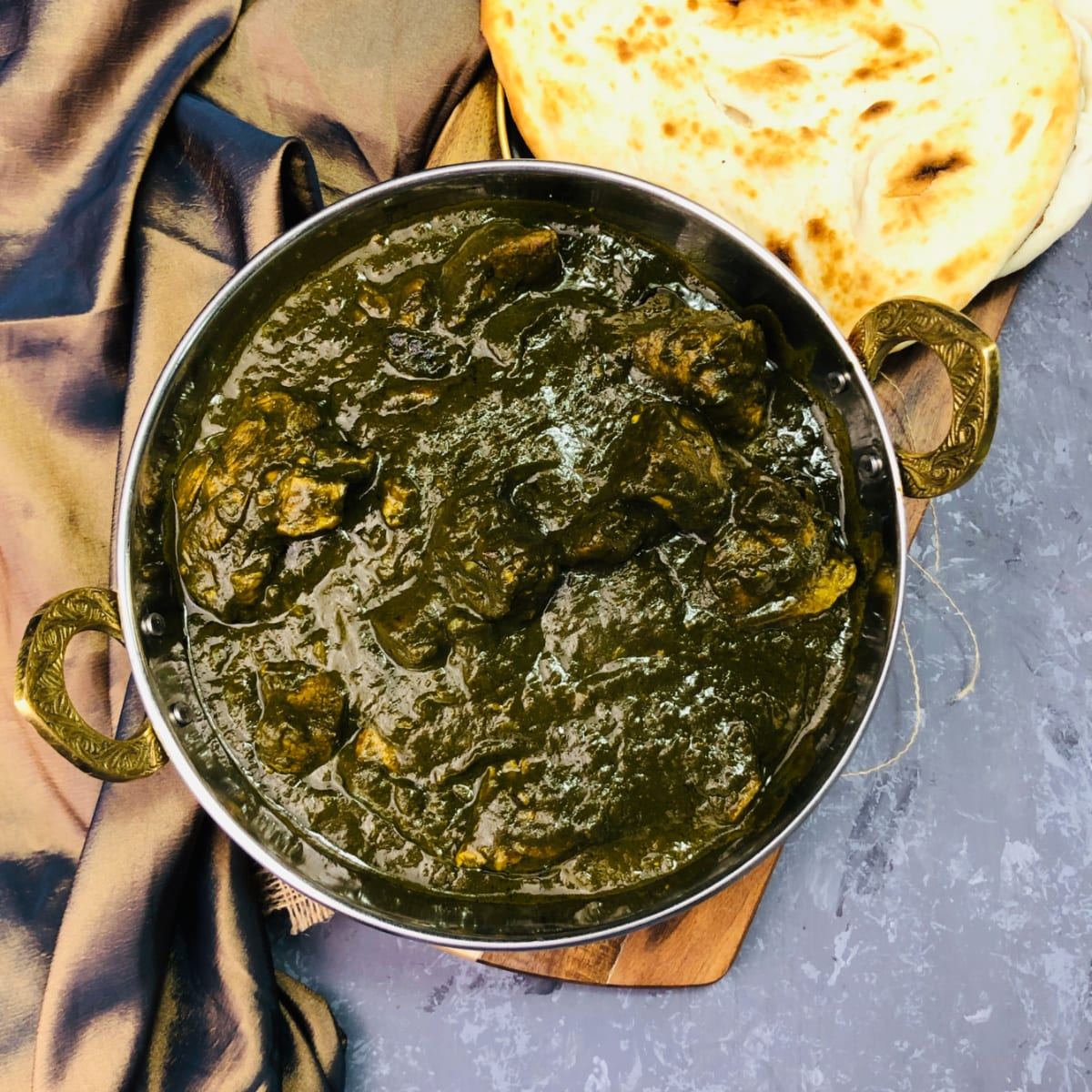 Lamb and Spinach Curry | Lamb Palak | Saag Gosht