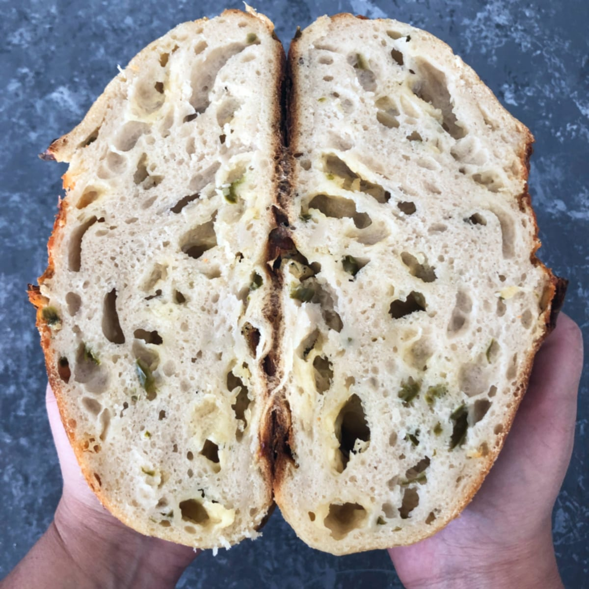 Sourdough Cheddar and Jalapeno Bread