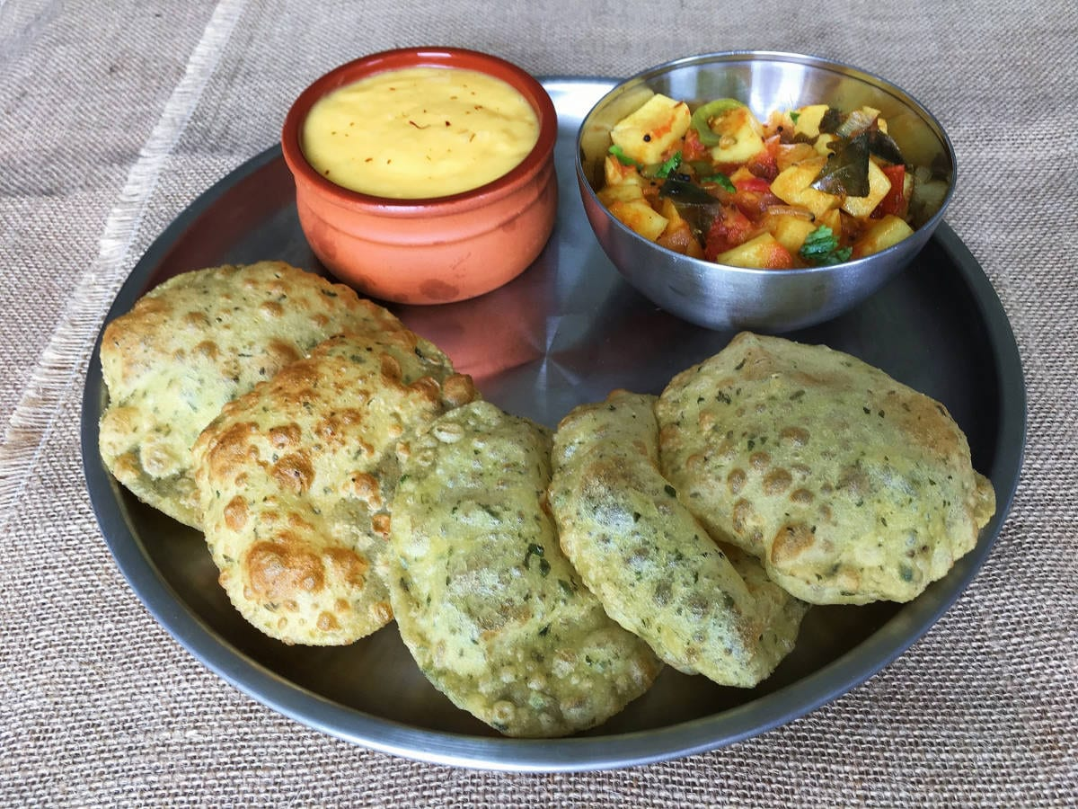 Fenugreek leaves poori