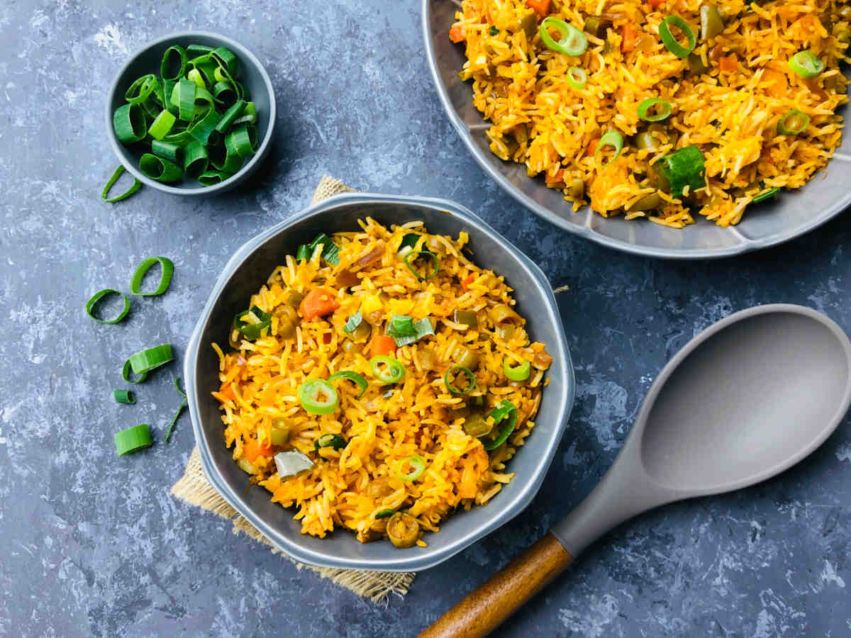 Spicytamarind Vegetable Fried Rice